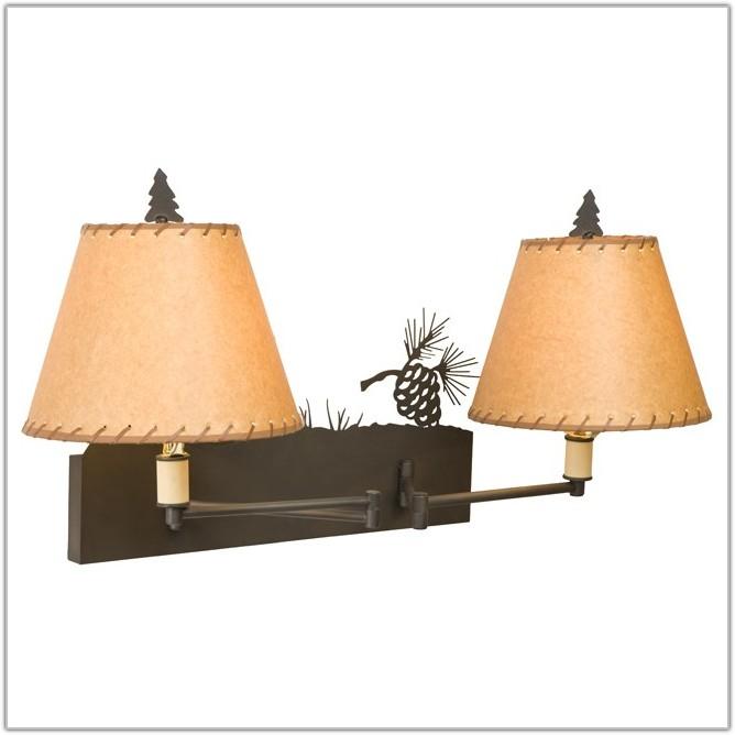 Rustic Swing Arm Wall Lamp