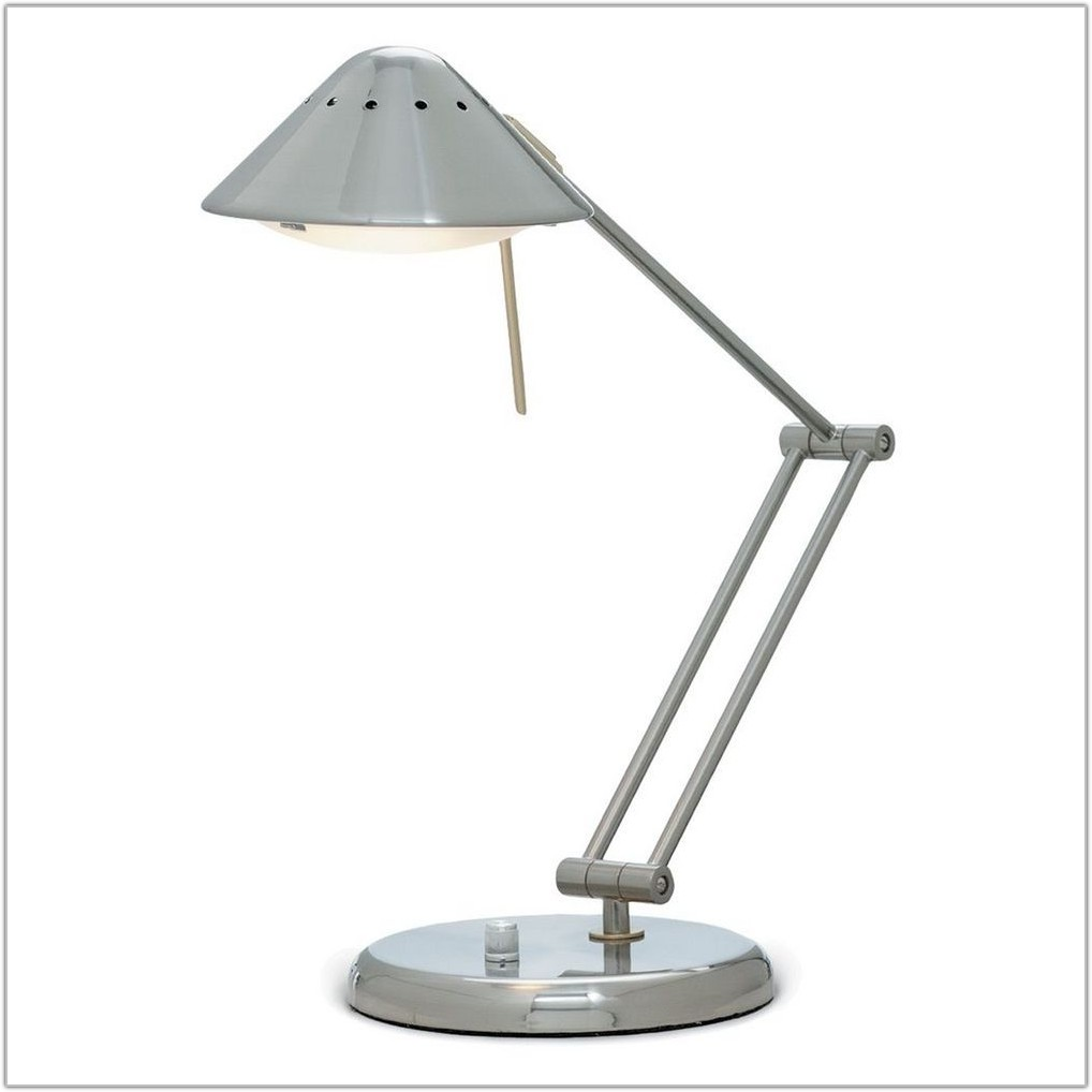 Satin Nickel Adjustable Led Desk Lamp