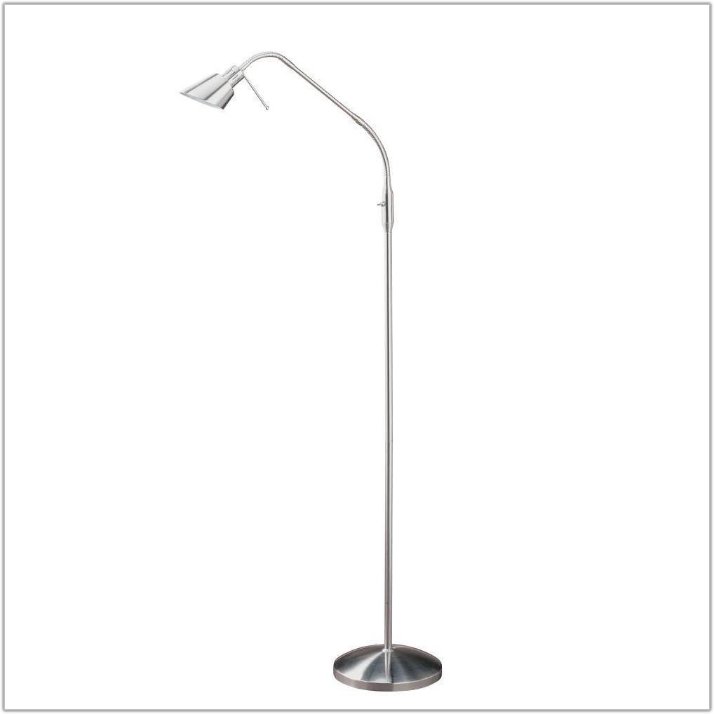 Satin Nickel Halogen Floor Lamp