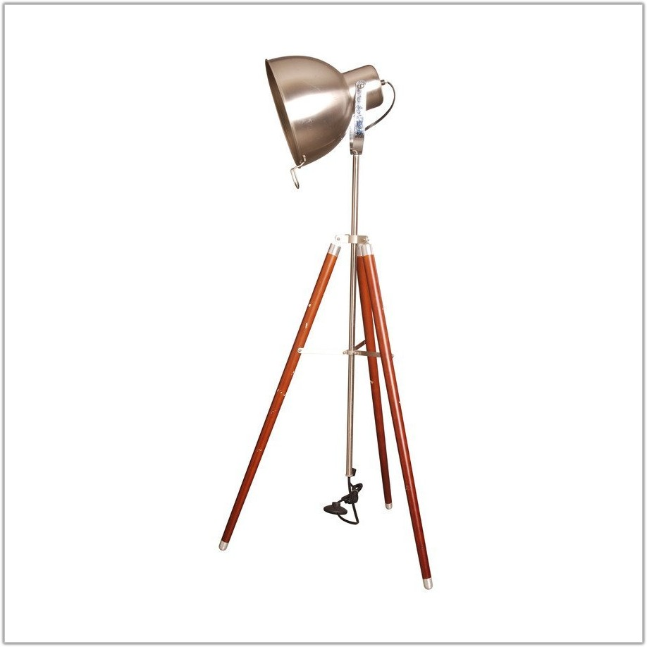 Satin Nickel Tripod Floor Lamp