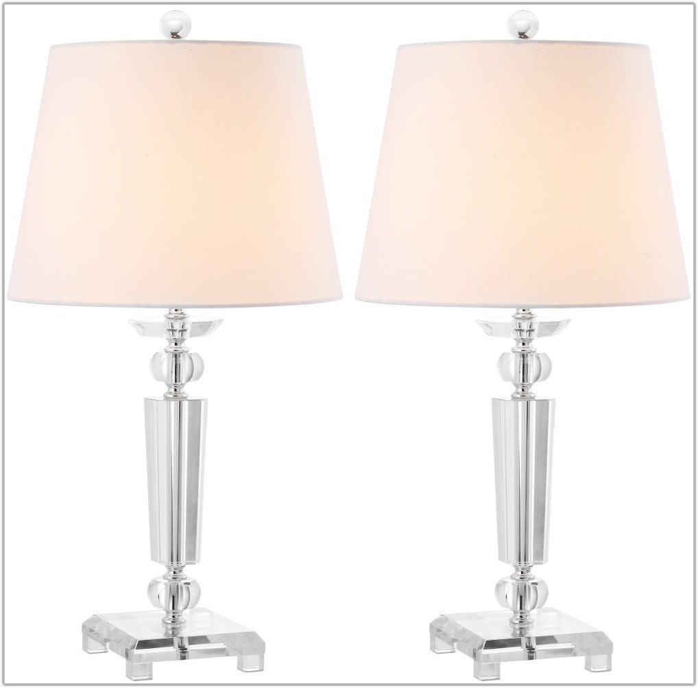 Set Of 2 Crystal Table Lamps