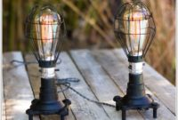 Set Of Two Black Table Lamps
