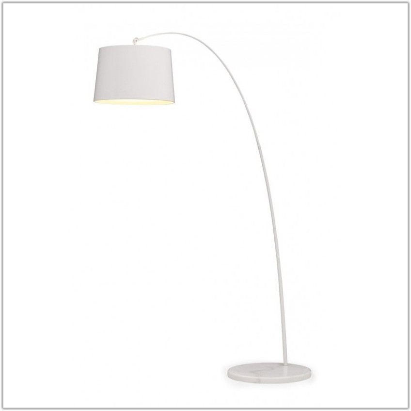 Shabby Chic Antique White Floor Lamp Base