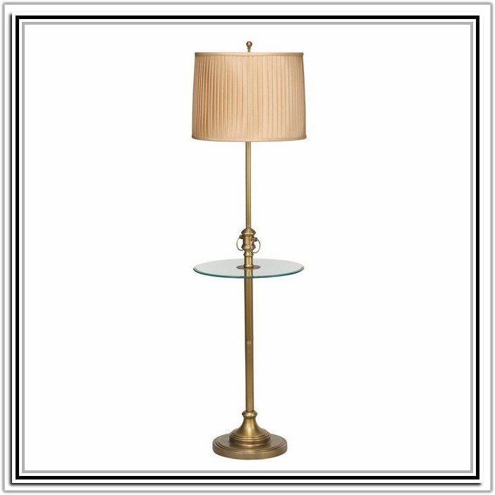 Side Table With Lamp Attached