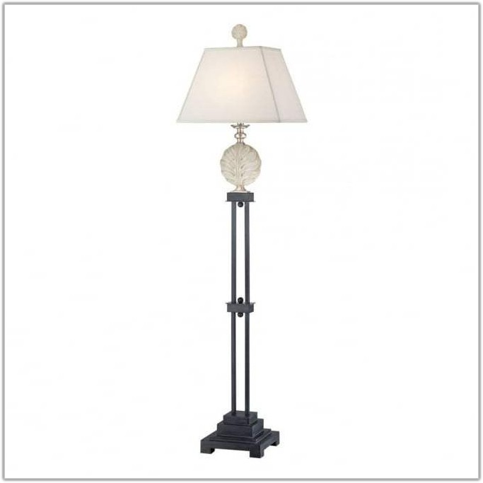 Silver Lamp Base With Black Shade