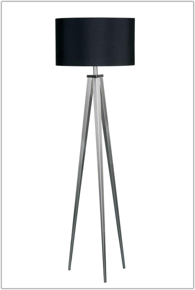 Silver Metal Tripod Floor Lamp