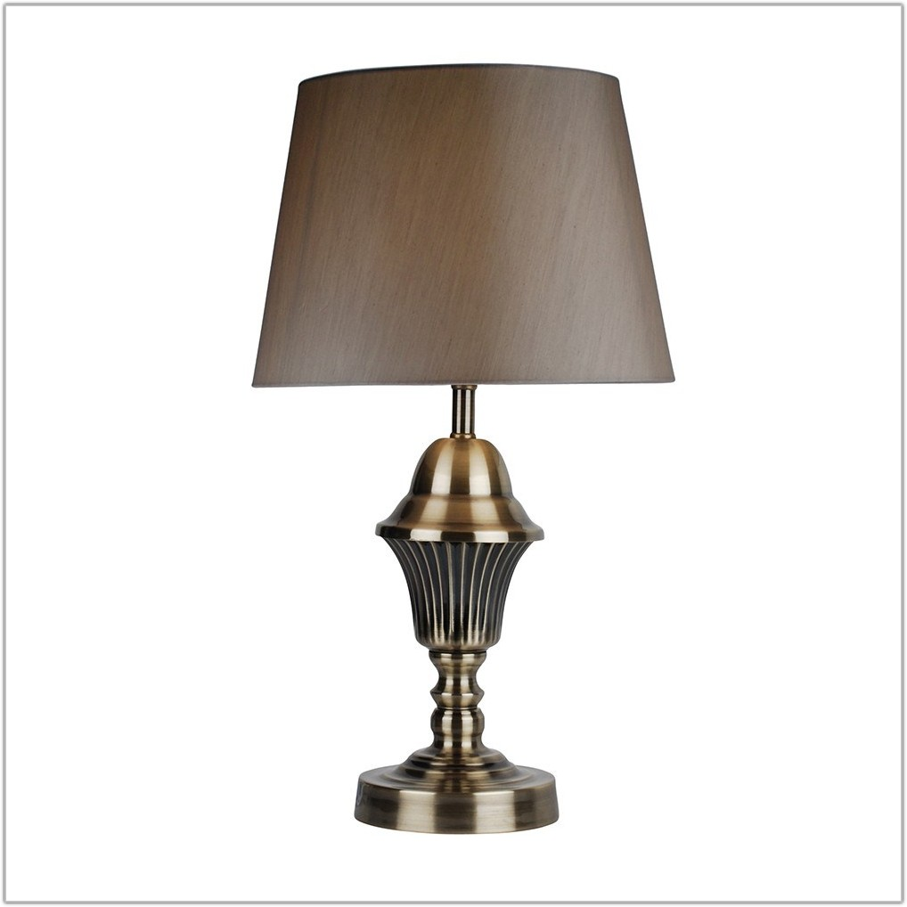 Small Antique Brass Table Lamps