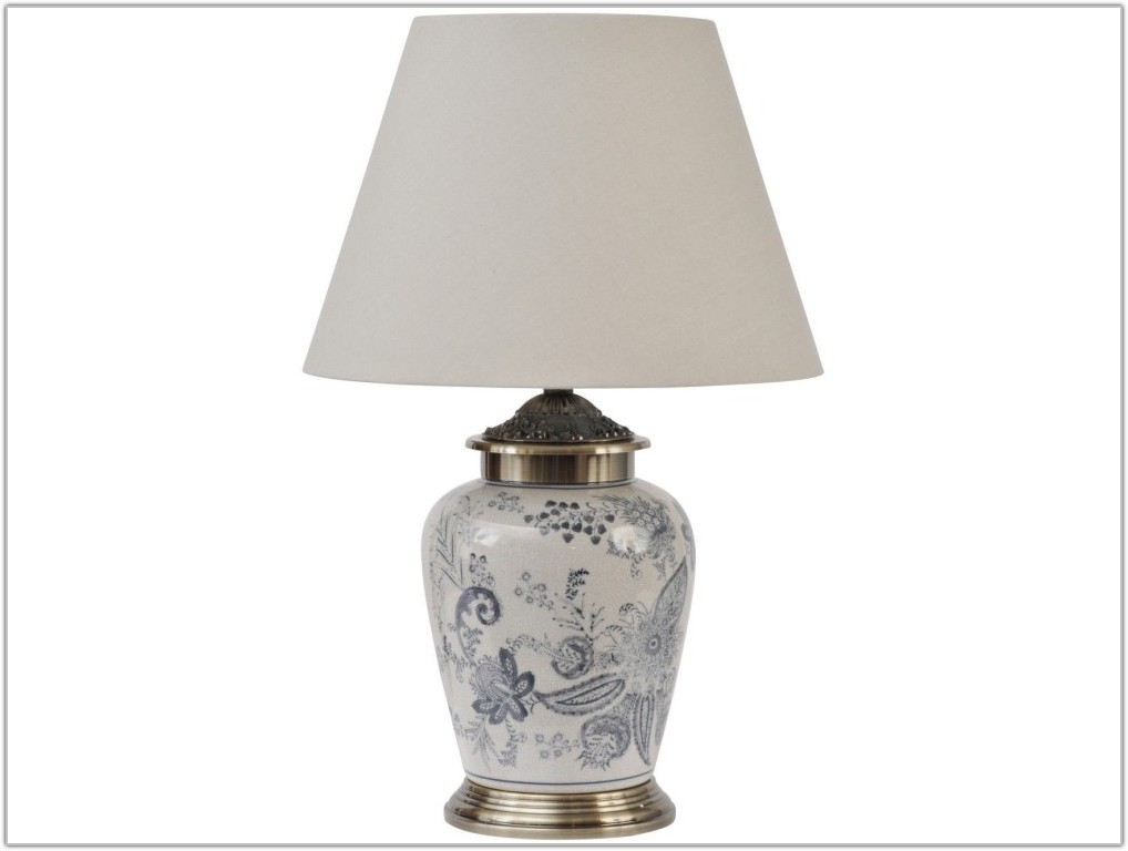 Small Blue And White Lamp