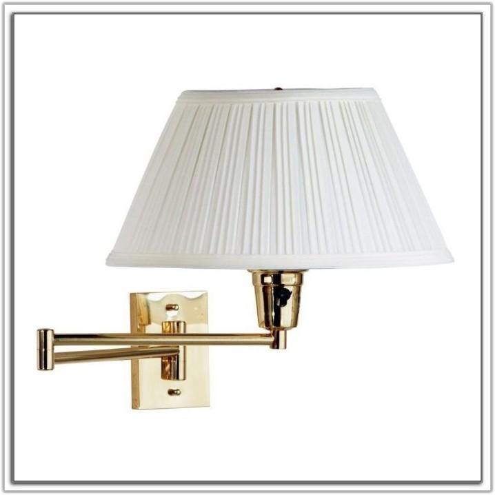 Small Brass Swing Arm Lamp
