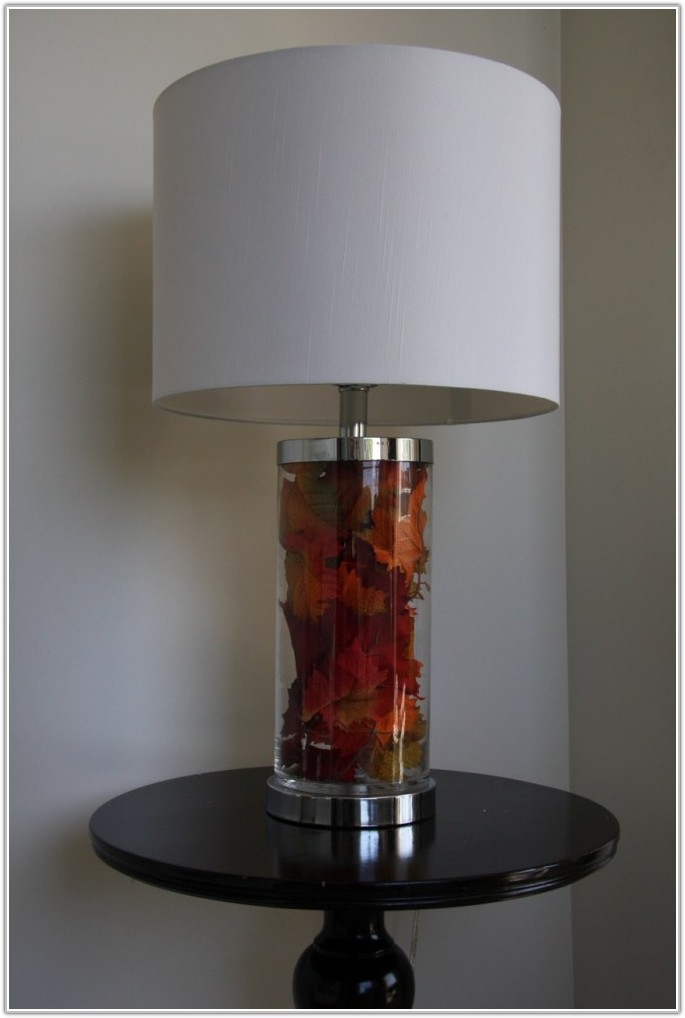 Small Fillable Glass Lamp Base