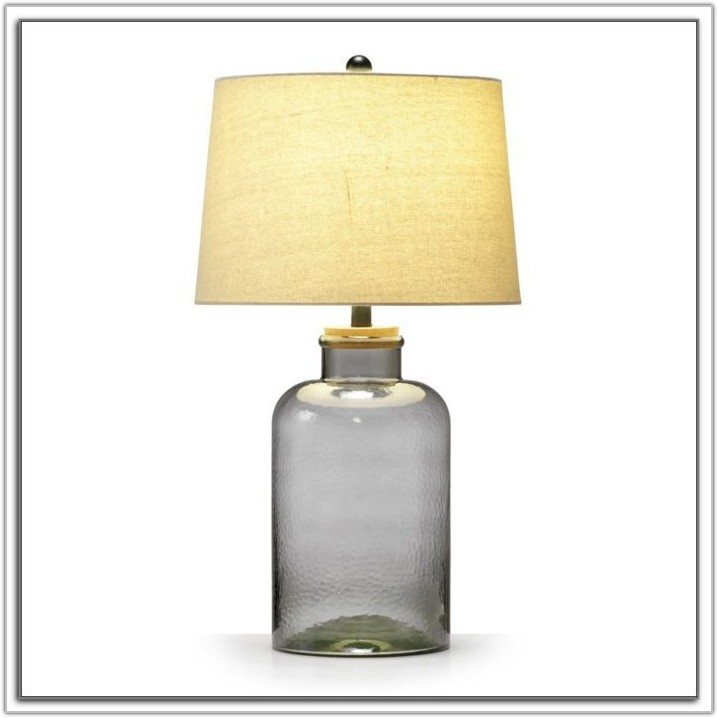 Small Fillable Glass Table Lamp