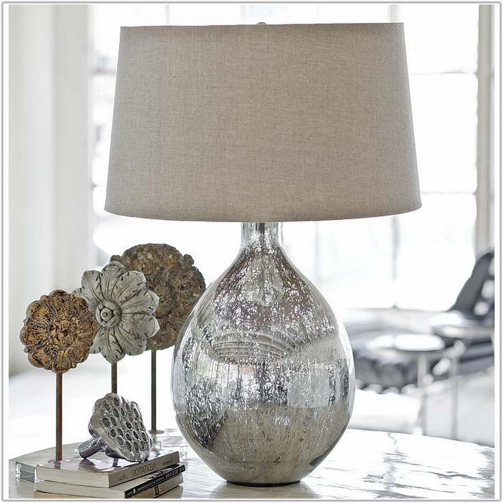 Small Mercury Glass Table Lamp