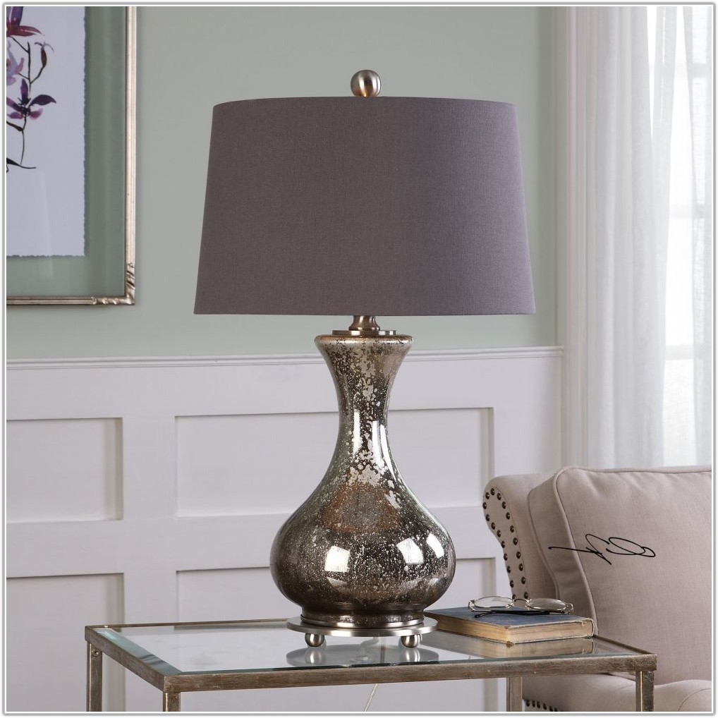 Small Mercury Glass Table Lamps