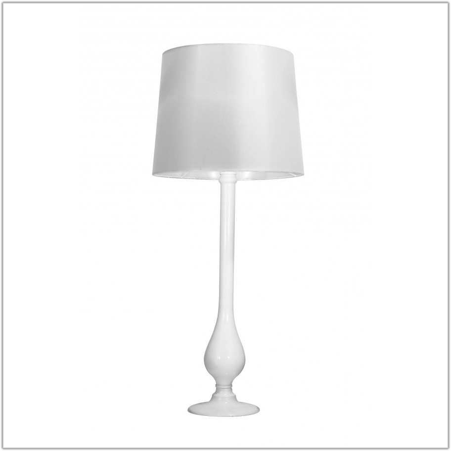 Small Modern White Table Lamp