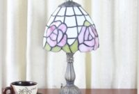 Small Pink Glass Table Lamp