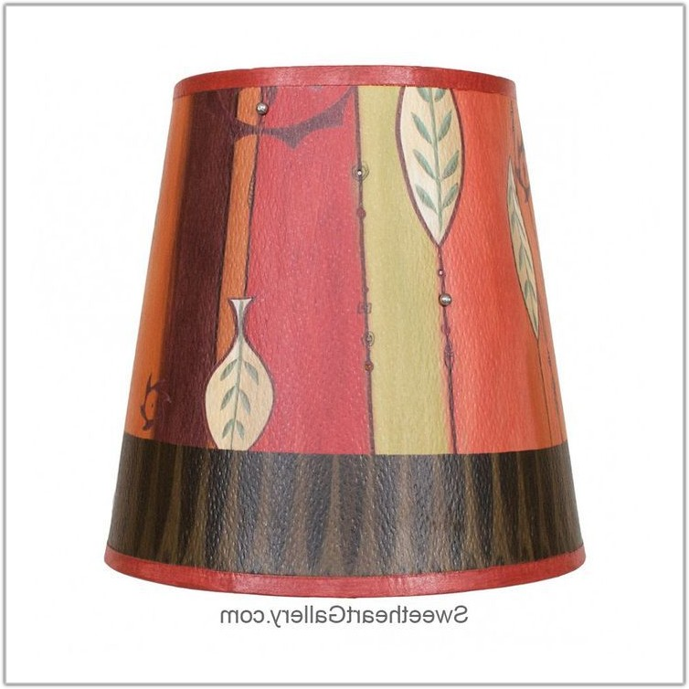 Small Red Drum Lamp Shade