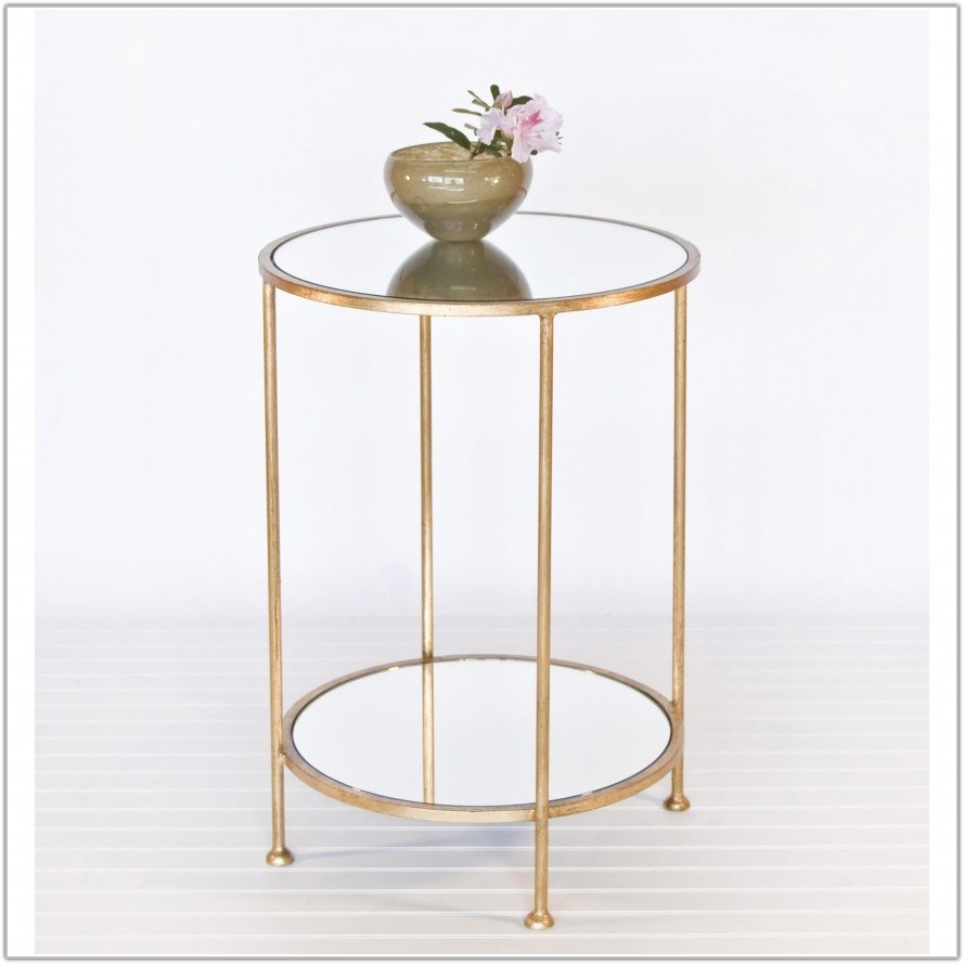 Small Round Glass Bedside Table