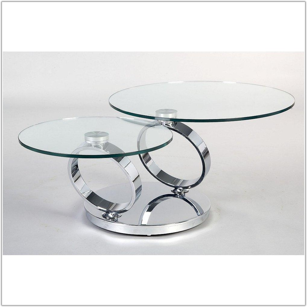 Small Round Glass Table Lamp