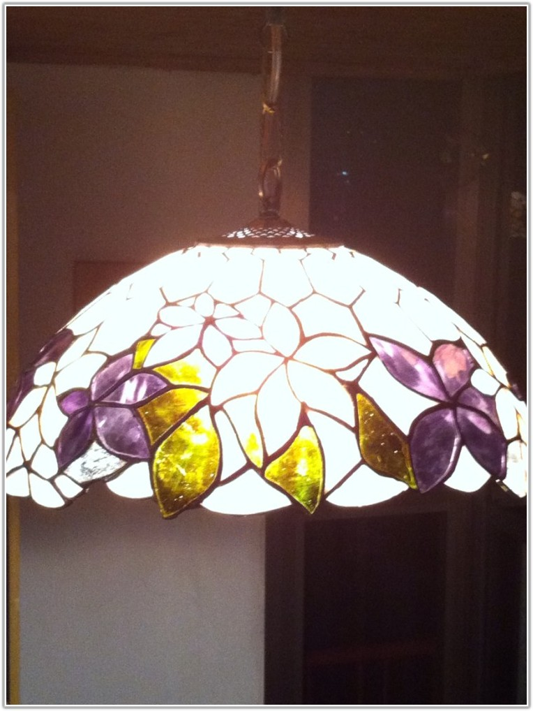 Small Stained Glass Hanging Lamp