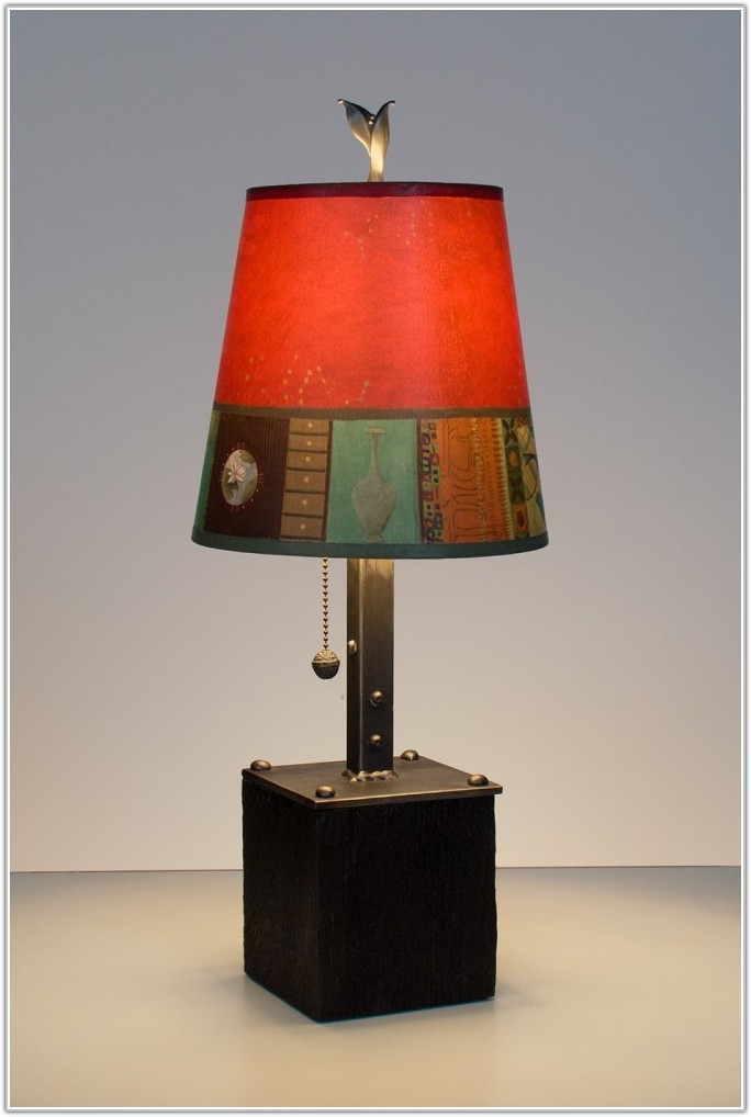 Small Table Lamp Red Shade