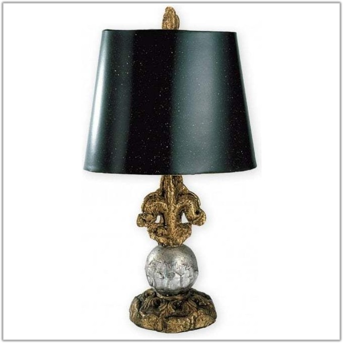 Small Table Lamp With Black Shade