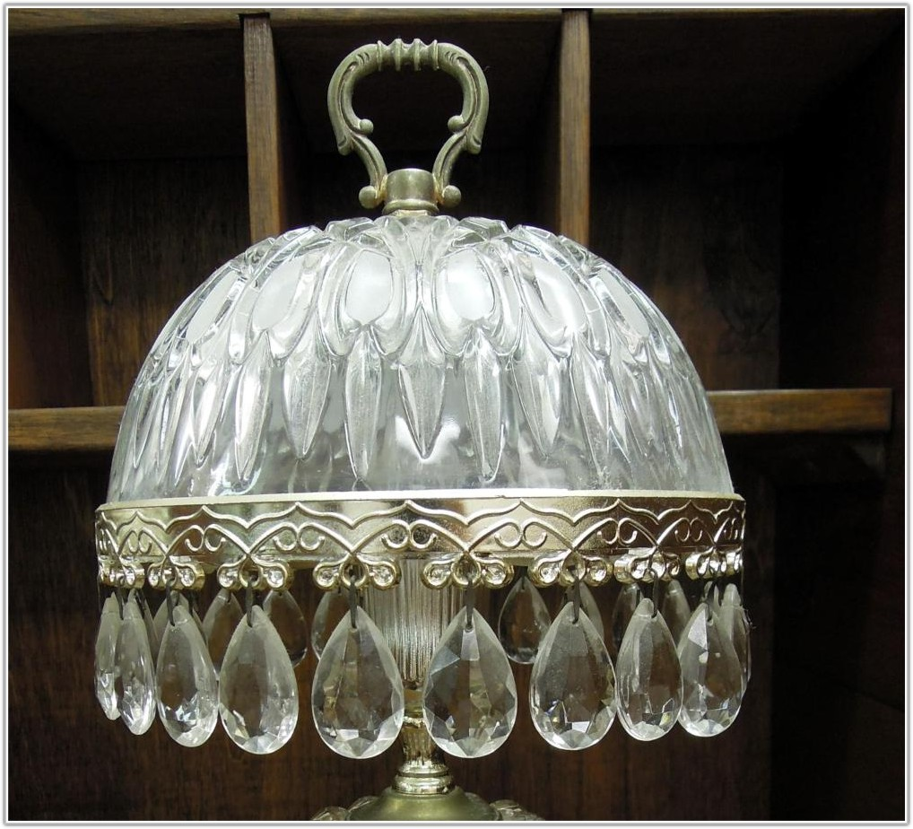 Small Vintage Crystal Table Lamps