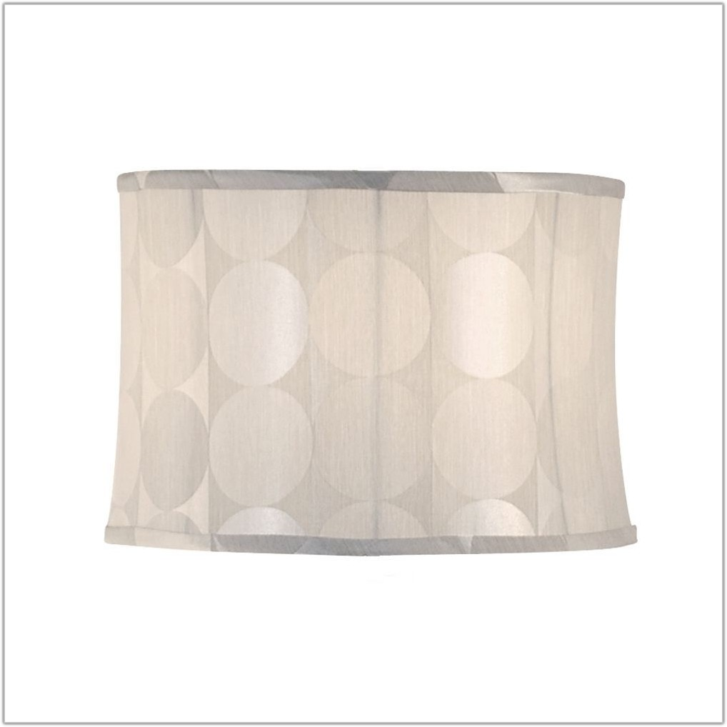 Small White Linen Lamp Shades