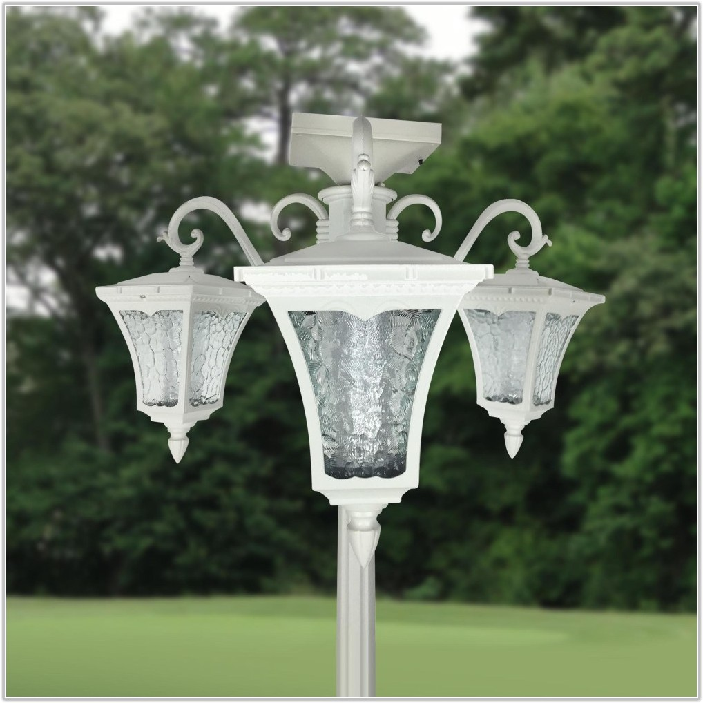 Solar 3 Light Lamp Post
