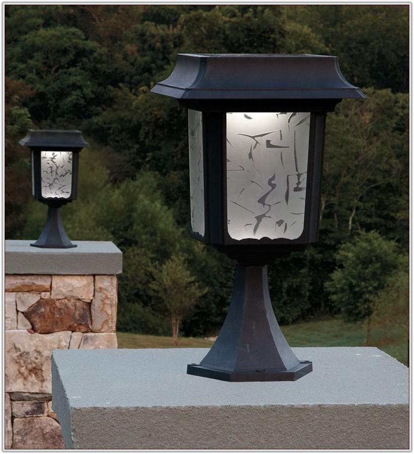 Solar Lamp Post Lights Home Depot