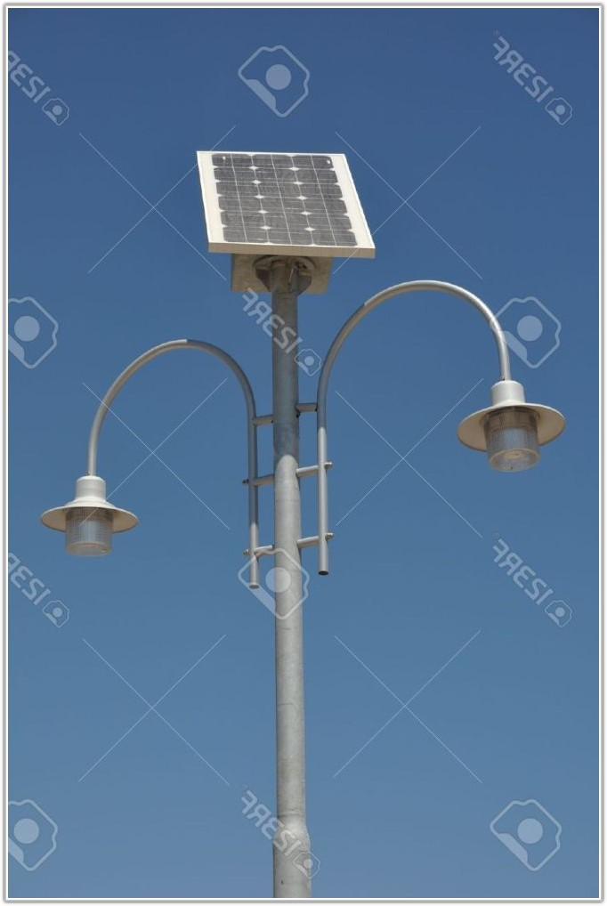 Solar Panel Street Lamp Post