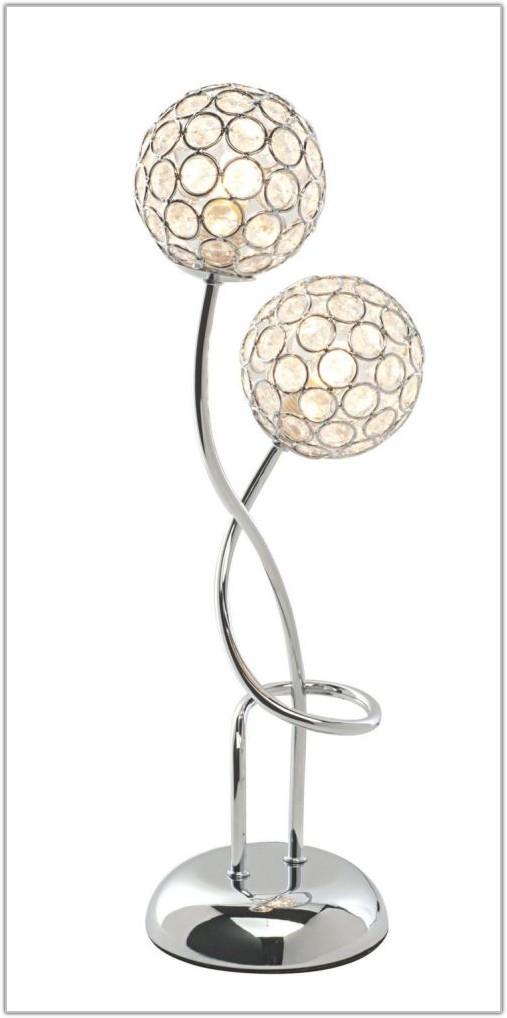 Sphere Two Light Chrome Table Lamp