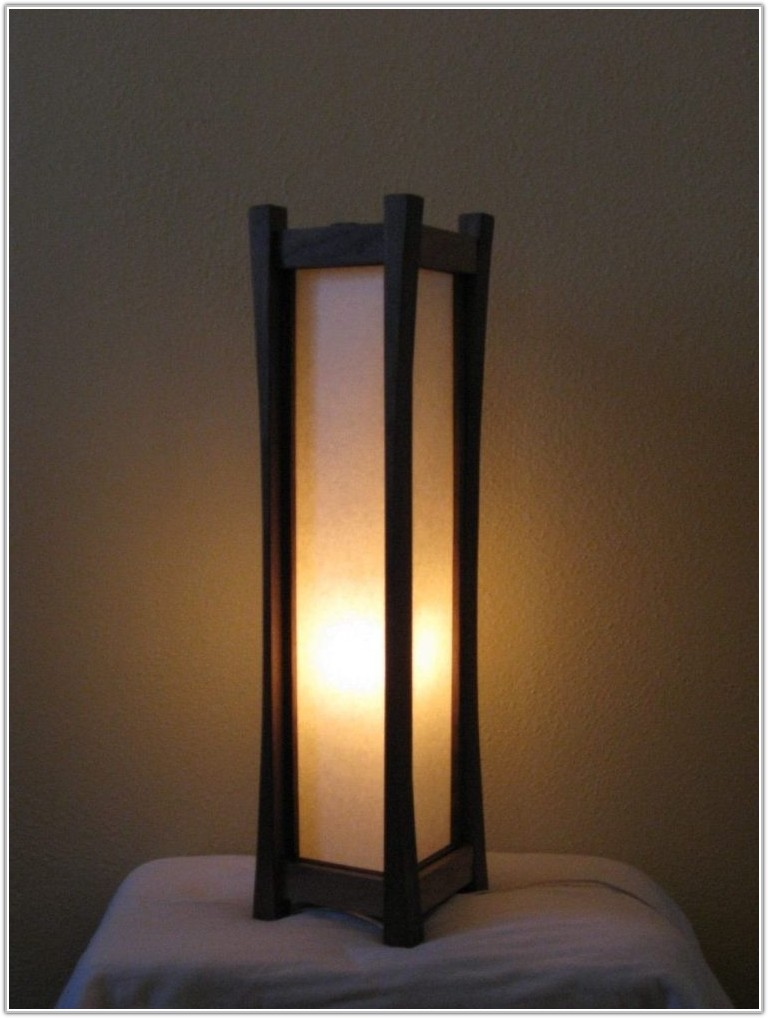 Square Floor Lamp With Paper Shade