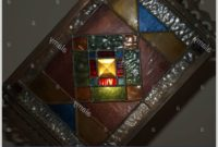 Square Stained Glass Lamp Shade