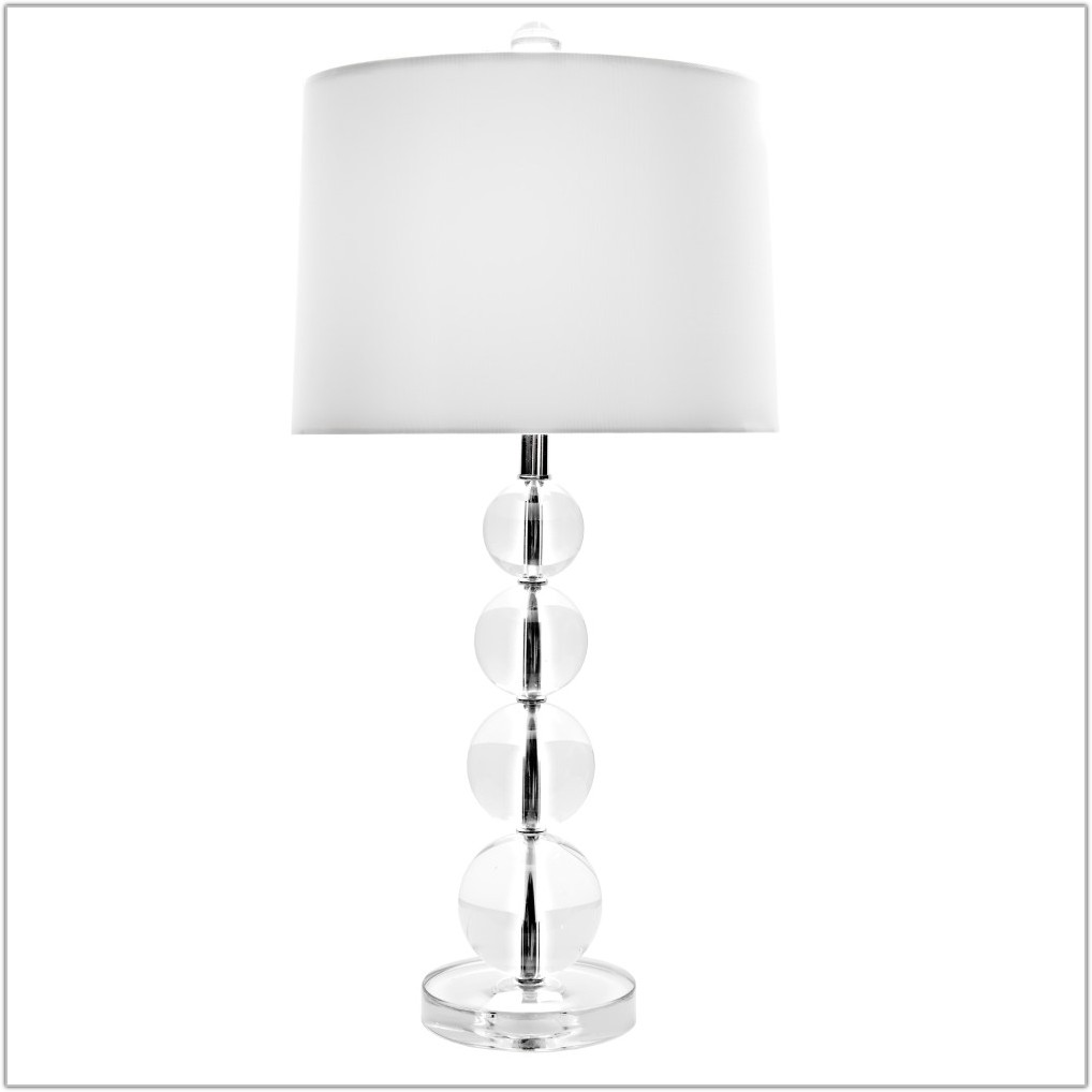 Stacked Crystal Ball Table Lamp