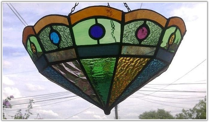 Stained Glass Hanging Lamp Shades