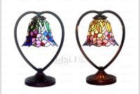 Stained Glass Hanging Lamps Vintage