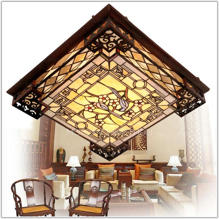 Stained Glass Tiffany Ceiling Lights