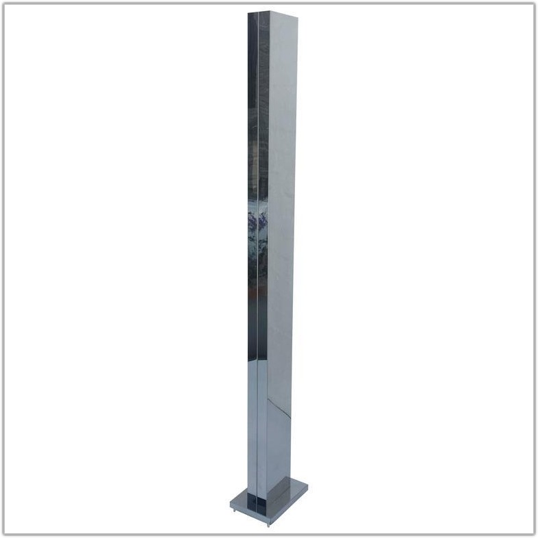 Stainless Steel Torchiere Floor Lamp