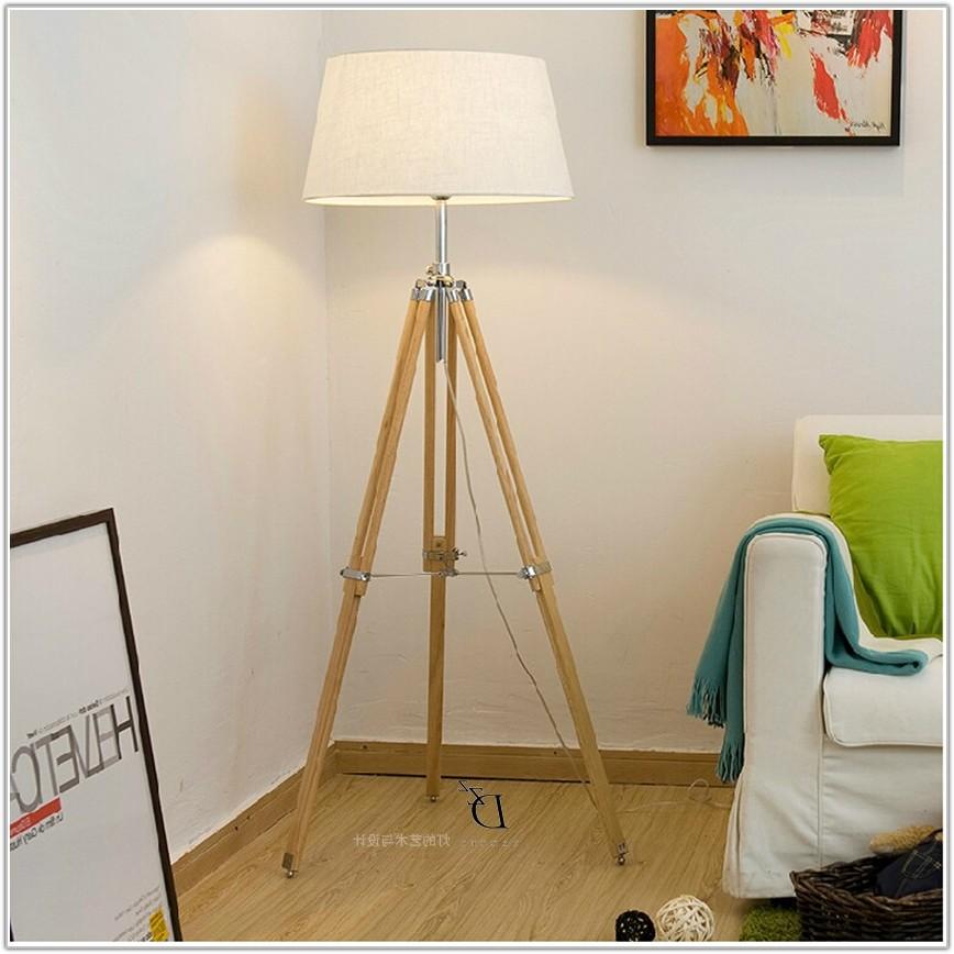 Stainless Steel Tripod Floor Lamp