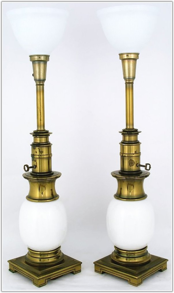 Stiffel Antique Brass Table Lamps
