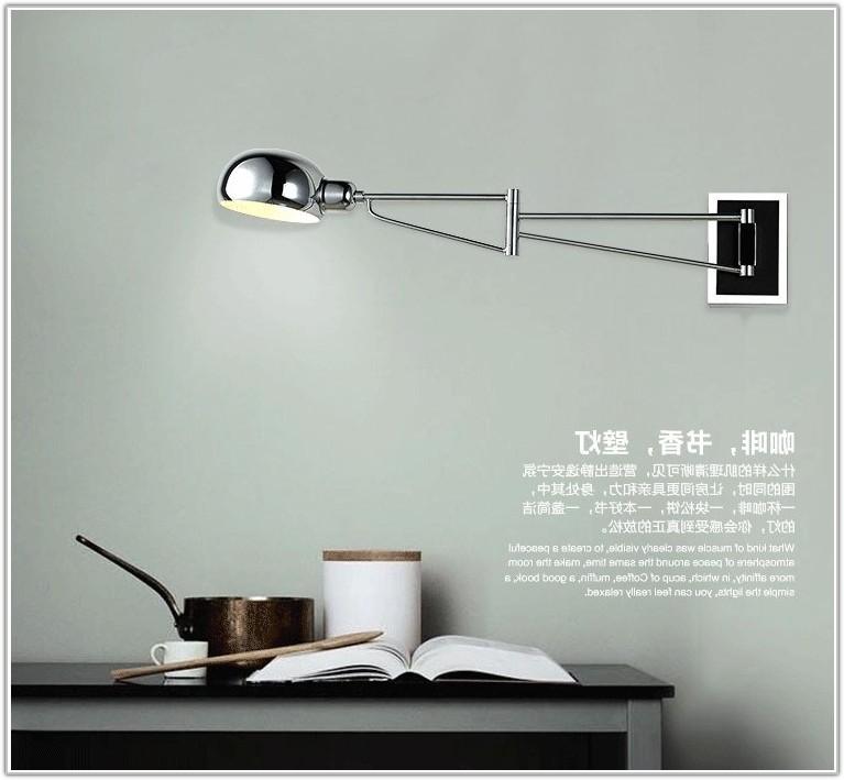 Swing Arm Bedroom Reading Lamp