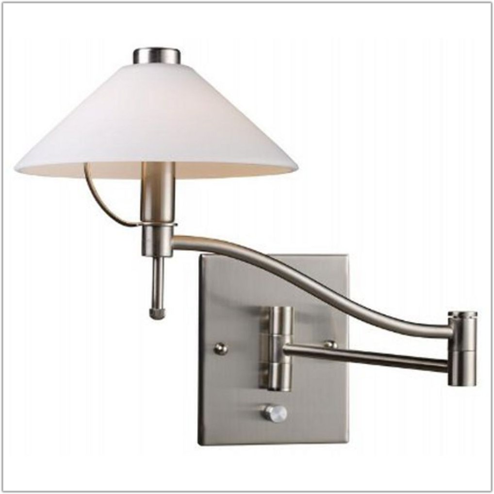 Swing Arm Lamp With Glass Shade