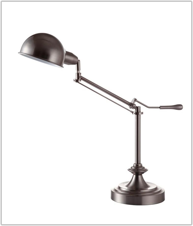 Swing Arm Table Lamp Brushed Nickel
