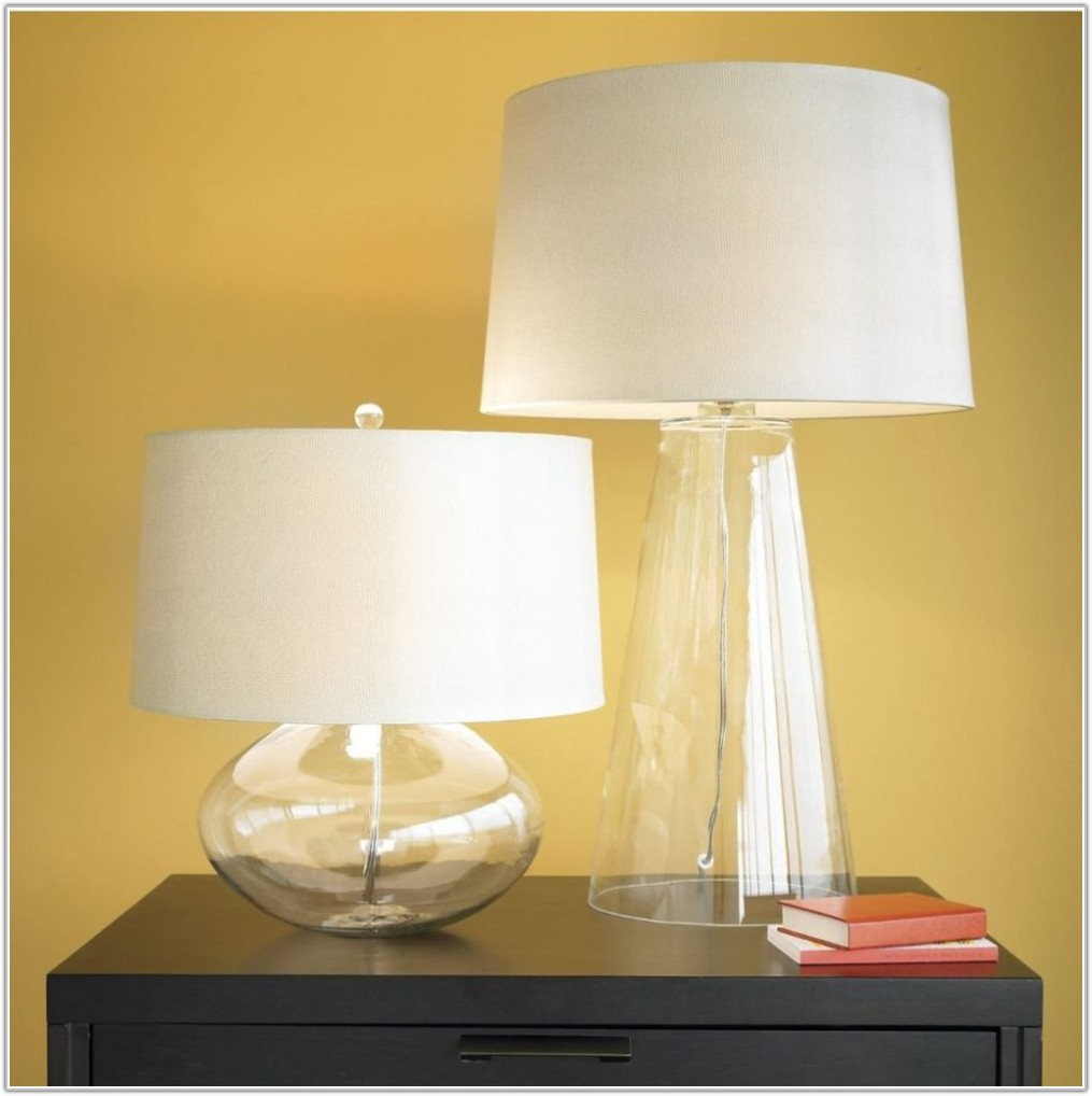 Table Lamp Clear Glass Base
