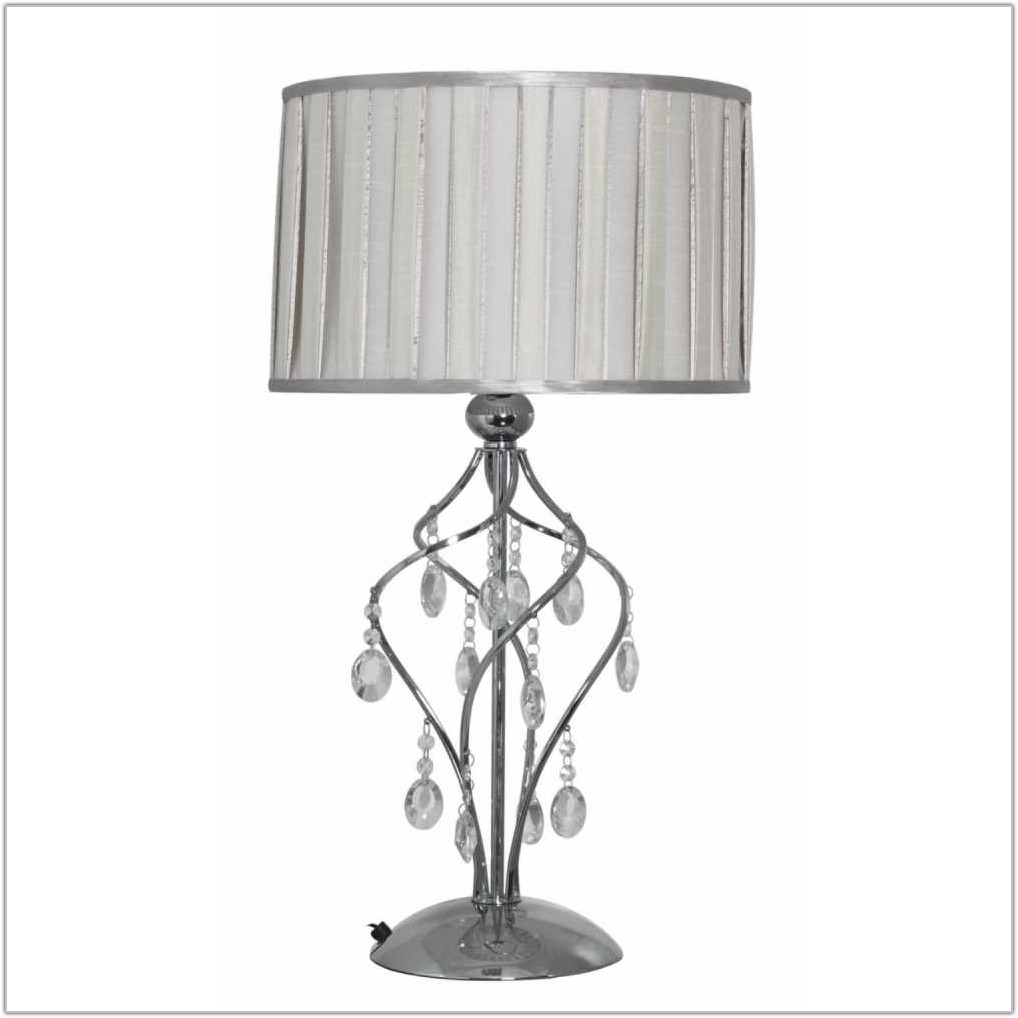 Table Lamp Shade With Crystal Droplets