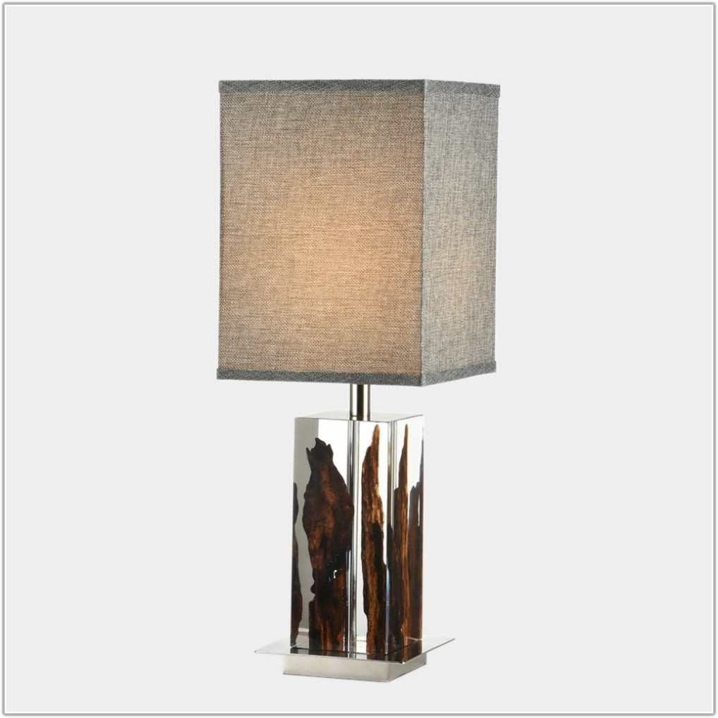 Table Lamp With Glass Base