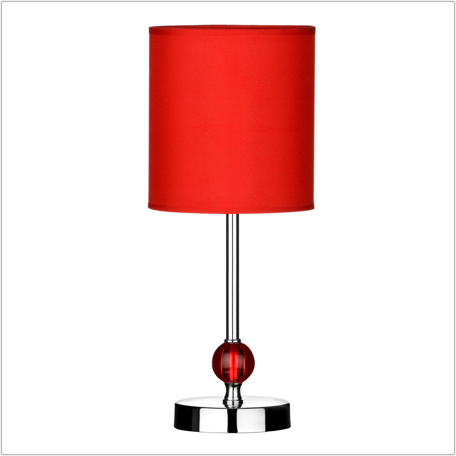 Table Lamp With Red Shade