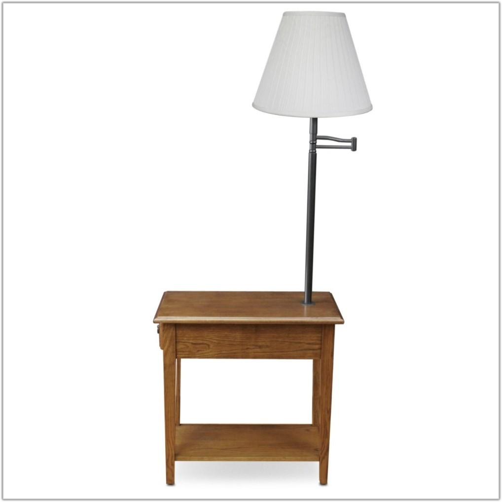 Table With Lamp And Magazine Rack