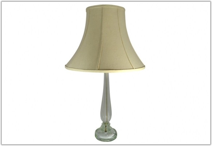 Tall Clear Glass Table Lamps