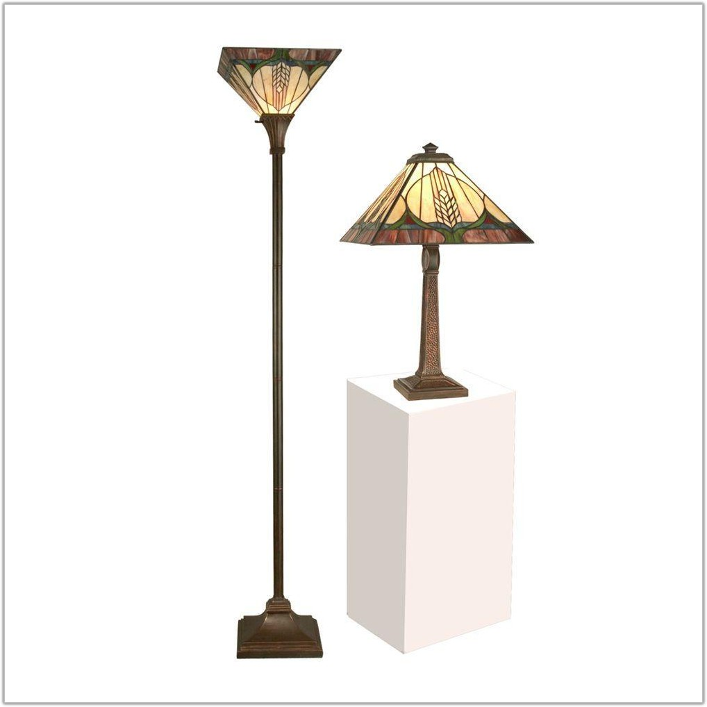 Tiffany Floor And Table Lamp Sets